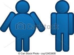 clipart uomo magro uomo grasso grasso magro uomo icona clipart