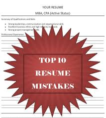 Resume Mistakes Top 10 Resume Mistakes From A Recruiter U0027s Perspective