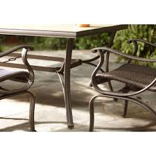 Hampton Bay Fall River 7 Piece Patio Dining Set - dining room excellent image of dining room decoration using round
