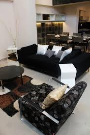 déco canapé noir impressionnant fauteuil noir et gris décoration française