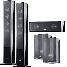 canton home theater canton 5 channel cd speaker package black accessories4less