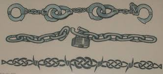 barbed wire and chain tattoos design