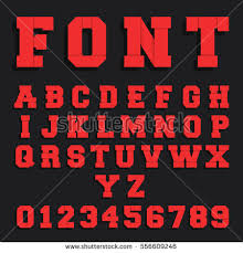 vector retro typography vintage 3d font stock vector 321603284