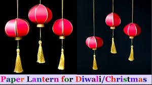 Lantern Decorating Ideas For Christmas How To Make Paper Lantern Akash Kandil At Home Diwali Christmas