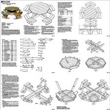 Free Woodworking Plans For Picnic Table by Traditional Octagon Picnic Table Woodworking Plans Pattern