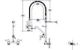 pre rinse kitchen faucets build ca delta 55t1583 commercial handle wall mount pre