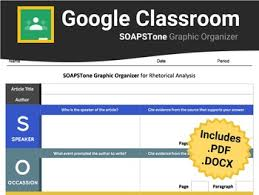 Soapstone Literary Analysis Soapstone Graphic Organizer For Google Classroom Tpt