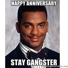 Funny Gangster Memes - happy anniversary stay gangster wishes greetings pictures wish guy