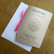 passport wedding invitation 8 50 via etsy cute ideas