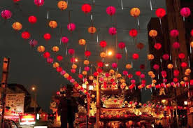lanterns new year string of traditional lanterns new year celebrations