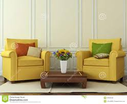 Comfortable Chairs For Living Room by Comfortable Chairs With Autumn Decorations Stock Photo Image