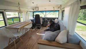 Convert Living Room To Bedroom Old Bus Converted Into Loft Is Traveling From Alaska To