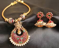 gorgeous traditional kemp ganesha necklace set antique