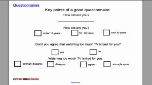 questionnaire design questionnaires
