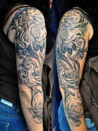 mens sleeve tattoos roses sleeve designs for