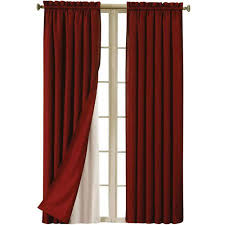 Window Curtains At Walmart Eclipse Blackout Thermaliner Curtain Panels Set Of 2 Walmart Com