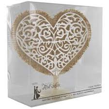 burlap cake toppers ivory heart cake topper with burlap hobby lobby 693374