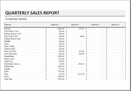 sale report template excel quarterly sales report template for excel excel templates