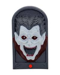 halloween doorbell vampire with light u0026 sound joke article
