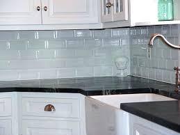 kitchen with glass tile backsplash blue green glass tile backsplash kitchen white kitchen with glass