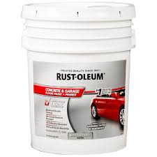 rust oleum 5 gal battleship gray concrete floor paint 320172