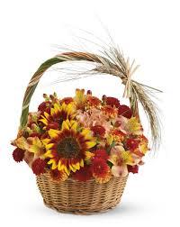 griffins floral butterscotch harvest basket thanksgiving
