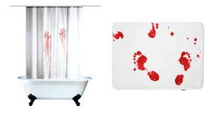 Blood Shower Curtain Unique Bathroom Accessories Livinghouse Blog