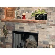rustic cedar log mantel south fireplace shelves wood kettle
