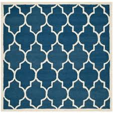 10 Square Area Rugs Safavieh Cambridge Navy Ivory 10 Ft X 10 Ft Square Area Rug