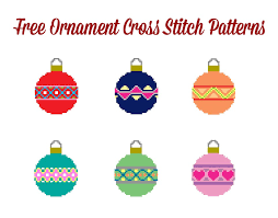 six free christmas ornament cross stitch patterns from hugs are