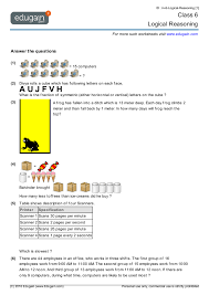 year 6 math worksheets and problems logical reasoning edugain