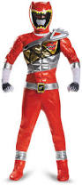 Power Rangers Halloween Costumes Adults Partybell Power Rangers Dino Charge Red Ranger Prestige