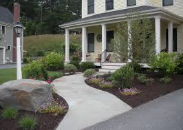 front entry and barren lawn transformed light and shade gardens