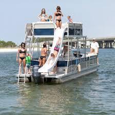 pontoon boats with slides destin vacation boat rentals