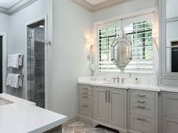 Glacier Cabinets Traditional Master Bathroom With Limestone U0026 Crown Molding In