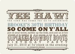 custom western party invitation cupcakes and cowboy boots