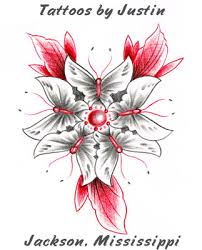 butterfly flower design richland ms tattoos
