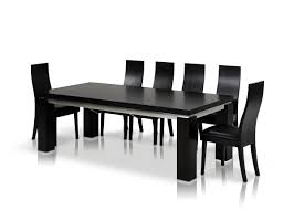 black dining room sets modrest maxi modern black oak dining table