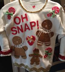 ugly christmas sweater idea purchased sweatshirt at academy and