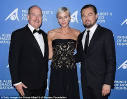 leonardo dicaprio poses with prince albert ii of monaco daily