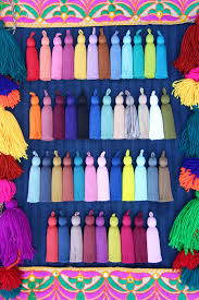 tassel luxe large handmade cotton tassels new fall colors 3 75