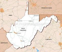 Map Of Virginia And West Virginia by Physical Map Of West Virginia