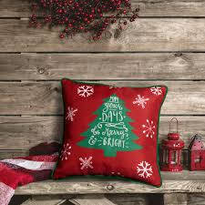 decorative home accents home accents holiday merry and bright tree decorative pillow
