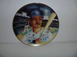 autograph plate don mattingly new york yankees 1987 autograph plate ebay