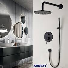 Bathroom Shower Set Brass Black Bathroom Shower Set 8 Rianfall Shower Shower