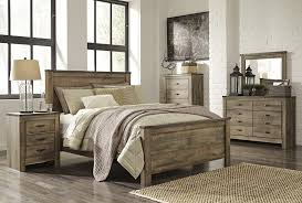 trinell 5 pc bedroom dresser mirror u0026 king panel bed bedroom
