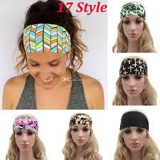 designer hair accessories 2017 new women headbands bohemia fabric printed sports hairband