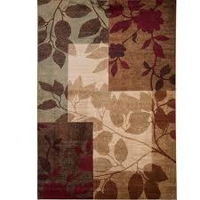 Area Rugs Brown Andover Mills Raffin Beige Brown Leaves Area Rug Reviews Wayfair