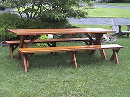 Wooden Picnic Tables With Separate Benches 8ft Picnic Table Detached Benches Plans Plans Diy Free Download
