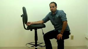 Heavy Duty Tall Drafting Chair by Boss Caresoft Drafting Chair With Footring Youtube